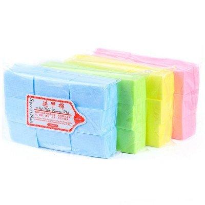 Салфетки безворсовые для маникюра 600 шт., жесткие (цветные)