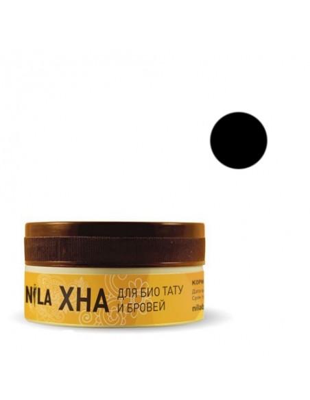 Черная хна 20г для бровей и биотату Nila