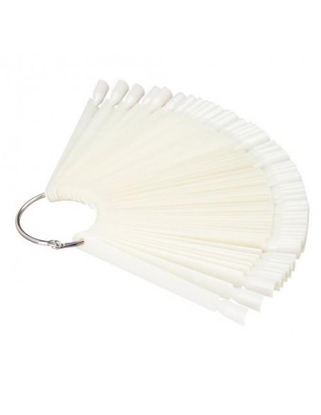 Демонстрационная палитра-веер на кольце, 50 типс (цвет натуральный)