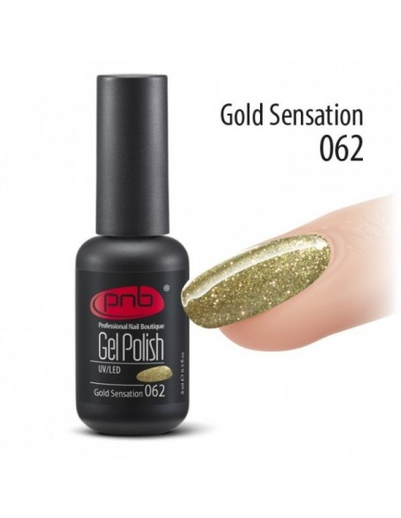 Гель лак PNB №62 Gold Sensation 8 мл.