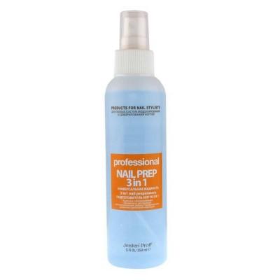Nail Prep 3в1 Jerden Proff 150 мл Обезжириватель, антисептик, средство для снятия липкого слоя.