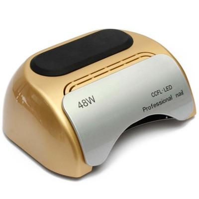 CCFL+LED гибридная лампа 48 Вт. для гель лака золотая