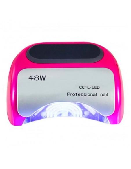 CCFL+LED гибридная лампа 48 Вт. для маникюра гель лаком, розовая.