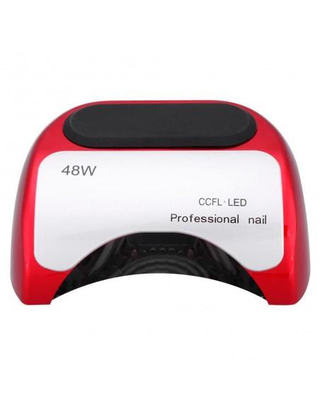 CCFL+LED гибридная лампа 48 Вт. для гель лака, красная