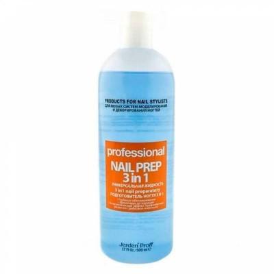 Nail Prep 3в1 Jerden Proff 500 мл Обезжириватель, антисептик, средство для снятия липкого слоя.