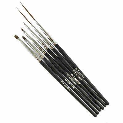 Набор кистей G.Lacolor для дизайна и китайской росписи с черной ручкой (6 шт.)