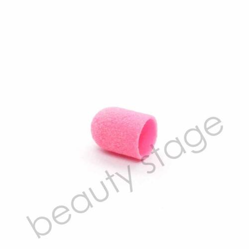 Розовый колпачок насадка для фрезера 10х15 мм., абразивность 180