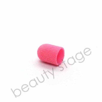 Розовый колпачок насадка для фрезера 10х15 мм., абразивность 80