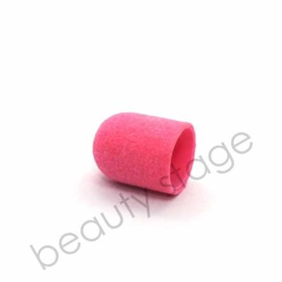 Розовый колпачок насадка для фрезера 13х19 мм., абразивность 180