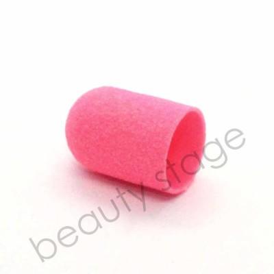 Розовый колпачок насадка для фрезера 16х25 мм., абразивность 80