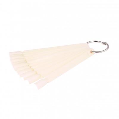 Демонстрационная палитра-веер на кольце, 12 типс (цвет натуральный)