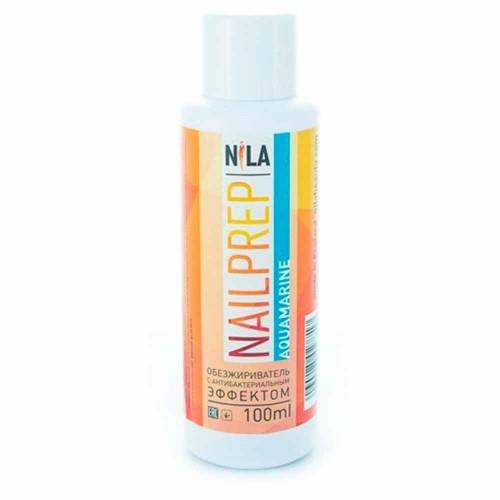 Nila Nail Prep обезжириватель с антибактериальным эффектом аквамарин, 100мл.