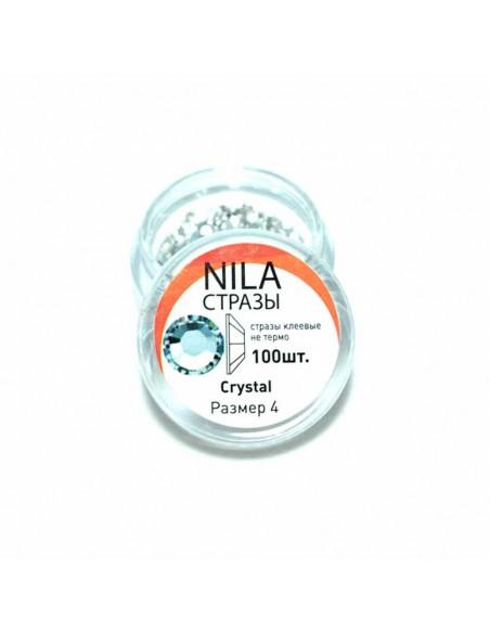 Nila стразы Crystal 100 шт. р4 в баночке