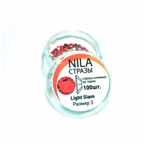 Nila стрази Light Siam 100 шт. р3 в...