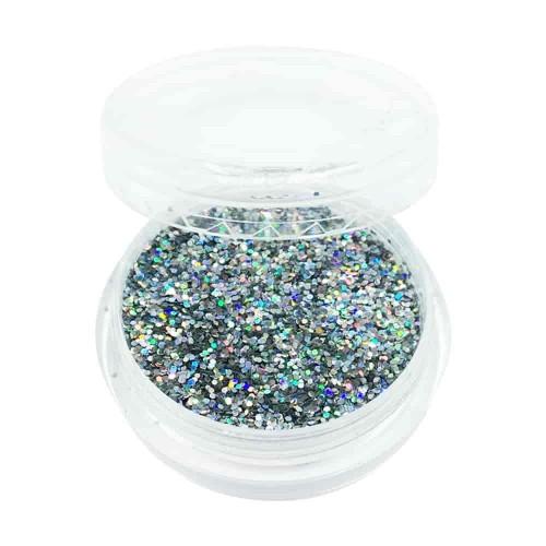 Гліттер для дизайну нігтів, срібло...