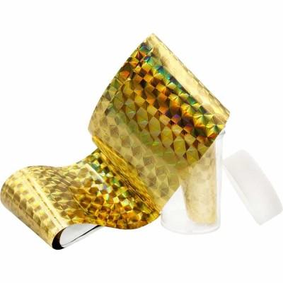 Фольга в баночке, золотые квадраты