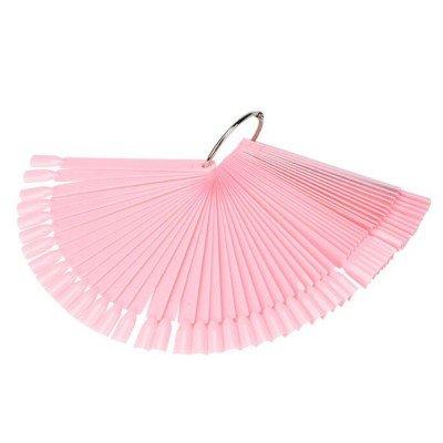 Демонстрационная палитра-веер на кольце, 50 типс (цвет розовый)