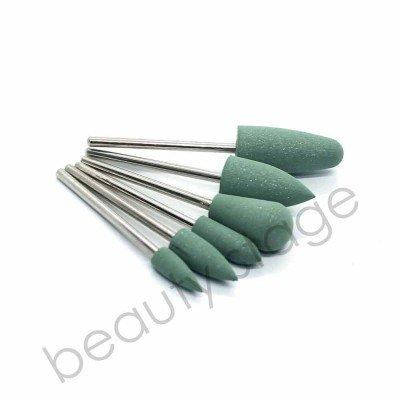 Набор силиконовых полировщиков для маникюра 240 грит, зеленые