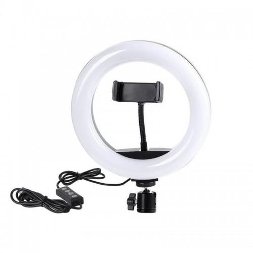 Кільцева LED лампа D10 26 см.,...