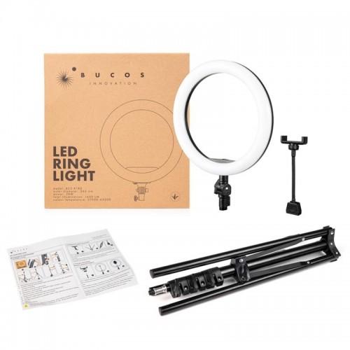 Кільцева LED лампа 26 см. Bucos BCS-R180