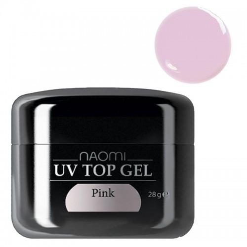Завершающий розовый гель Naomi Uv Top...