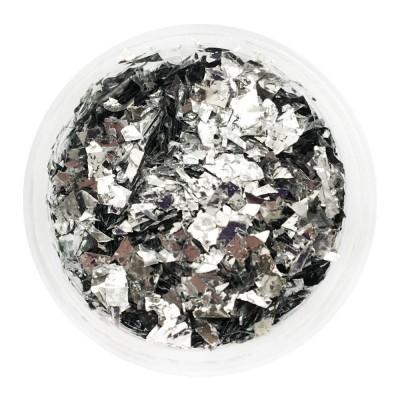 Слюда серебро в баночке