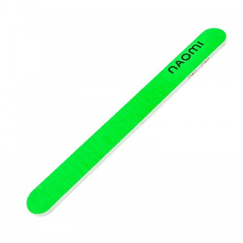Пилка для ногтей зеленая Naomi, 240/240