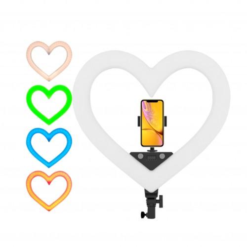 Кільцева LED лампа RGB у формі серця...
