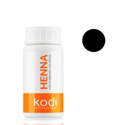Черная хна 5г для окрашивания бровей Kodi Proffesional