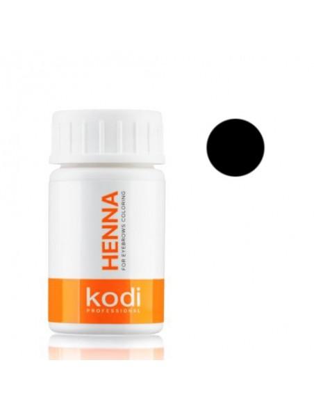 Черная хна 10г для окрашивания бровей Kodi Proffesional
