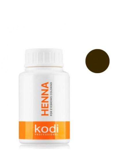 Темно - коричневая хна 15г для окрашивания бровей Kodi Proffesional