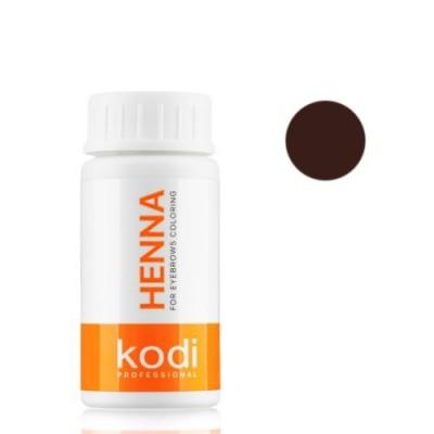 Темно - шоколадная хна 5г для окрашивания бровей Kodi Proffesional