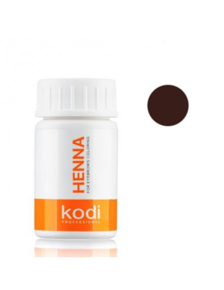 Темно - шоколадная хна 10г для окрашивания бровей Kodi Proffesional