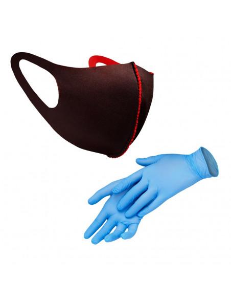Одноразовые перчатки и маски